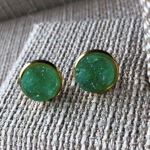 Jewelry - 5/$25 ❤️ Green Druzy Earrings